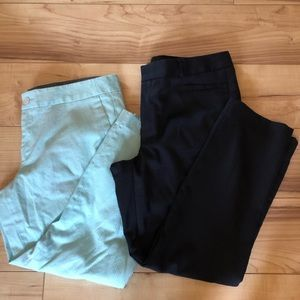 Banana Republic Dress Pants Size 12. Teal/ Navy